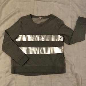 GAP sweatshirt with screen printed silver stripes